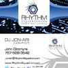 Rhythm Squadron Mobile Disc Jockeys Business Card; Front & Back